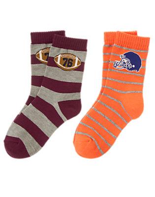 Boys Varsity Orange Football Socks Two-Pack by Gymboree