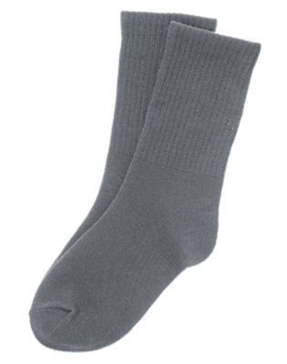 Boys Heather Grey Crew Socks by Gymboree