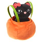 Pumpkin Plush Purse with Cat