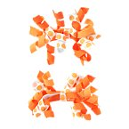 Pumpkin Curly Hair Clips Two-Pack