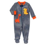 Dino Striped Footed Onesie