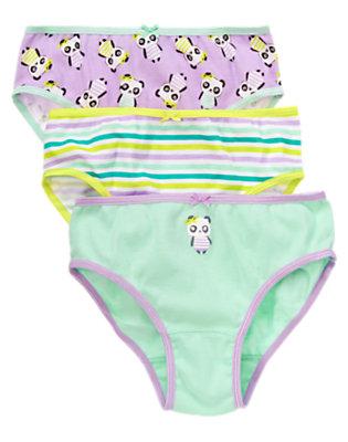 Toddler Girls Blue Bamboo Panda Panties Three-Pack by Gymboree