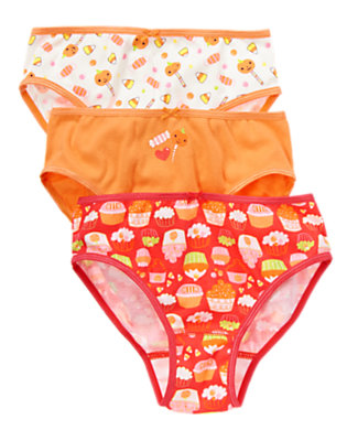 Toddler Girls Pumpkin Orange Halloween Panties Three-Pack by Gymboree