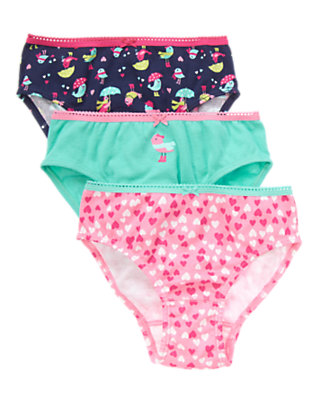 Toddler Girls Spring Blue Birdies Panties Three-Pack by Gymboree