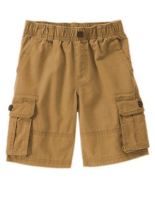 Boys Khaki Pull-On Cargo Shorts by Gymboree