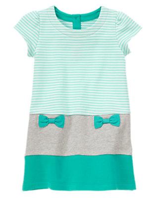 Toddler Girls Turquoise Striped Pocket Dress by Gymboree