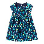 Pintuck Polka Dot Dress