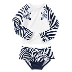 Zebra Rash Guard Set