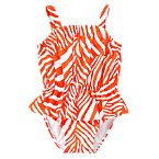 Ruffle Zebra One-Piece Swimsuit