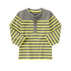 Neon Striped Henley