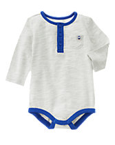 Penguin Patch Henley Bodysuit