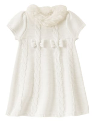 Fur Collar Sweater Dress