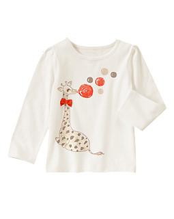 Giraffe Sparkle Long Sleeve Tee
