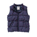 Neon Polka Dot Puffer Vest