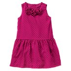 Polka Dot Rosette Dress