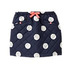 Quilted Polka Dot Skirt