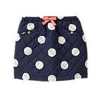 Quilted Polka Dot Skirt