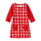 Grid Pocket Dress