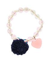 Pom-Pom Heart Bracelet