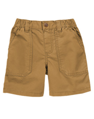 Toddler Boys Khaki Pull-On Twill Shorts by Gymboree
