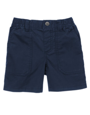 Toddler Boys Gym Navy Pull-On Twill Shorts by Gymboree