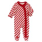 Striped Footed One-Piece
