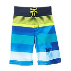 Surfer Striped Swim Shorts