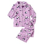 Flannel Penguin Two-Piece Pajamas