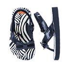 Zebra Bow Flip Flops