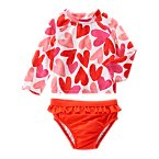 Heart Rash Guard Set