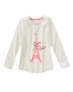 Paris Sparkle Long Sleeve Tee
