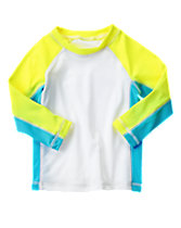 Neon Colorblock Rash Guard