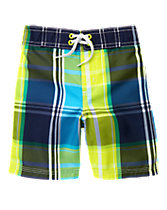 Neon Plaid Board Shorts