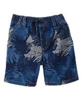 Scribble Leaf Shorts