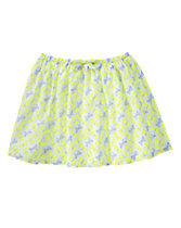 Neon Butterfly Print Skirt