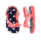 Polka Dot Bow Flip Flops