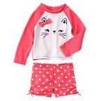 Bow Kitty Rash Guard Set