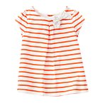 Bow Striped Smock Top