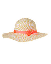 Neon Bow Straw Hat