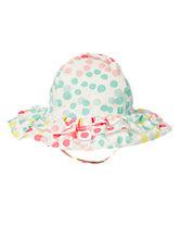 Ruffle Confetti Dot Sun Hat