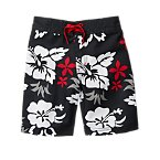 Tropical Hibiscus Board Shorts