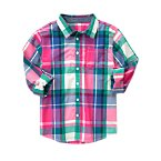Roll Cuff Plaid Shirt