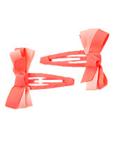 Neon Bow Clips Two-Pack