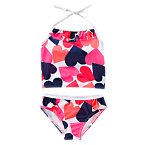 Colorful Hearts Two-Piece Swimsuit