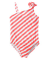Bow Striped One-Piece Swimsuit