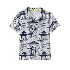 Island Print Polo Shirt