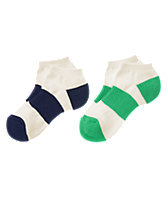 Striped Ankle Socks Two-Pack
