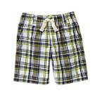 Pull-On Plaid Shorts