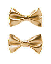 Metallic Bow Clips Two-Pack