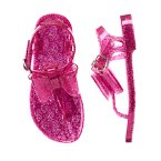 Glitter Jelly Sandals